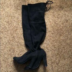 e2b882eb1e26 Steve Madden Shoes - Steve Madden Black Thigh-High Boots